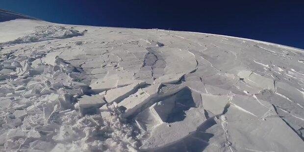 Snowboarder wird von Lawine erfasst