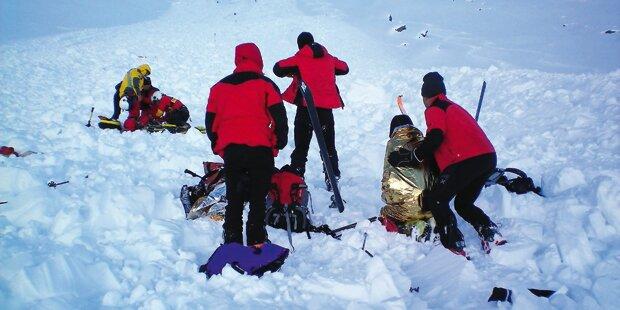 Bergretter durch Lawine getötet