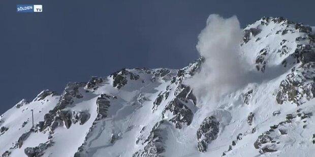 Lawinensprengung im Skigebiet Sölden
