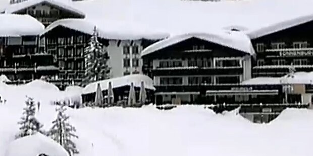 Soviel Schnee liegt in Lech am Arlberg