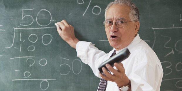 Unsere Lehrer verdienen viel und sind alt