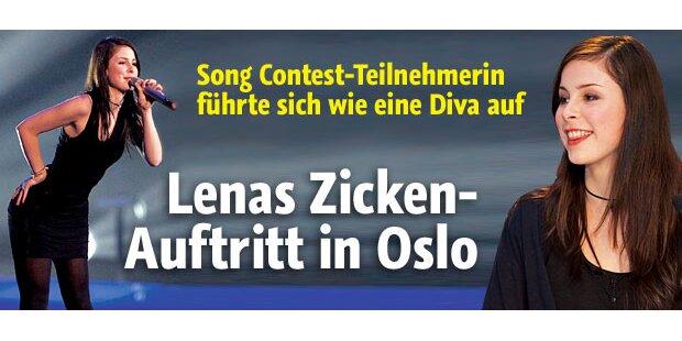 Lenas Zickenauftritt in Oslo