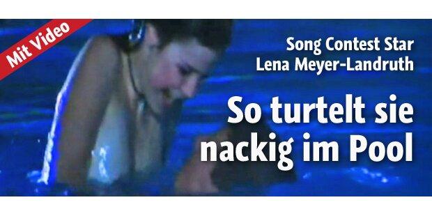 Lena Meyer-Landrut nackig im Pool