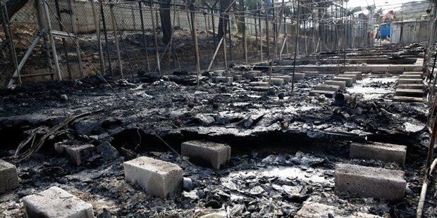 Mehrere Festnahmen nach Brand auf Lesbos