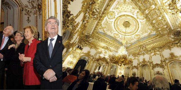 Fischer staunte bei Palais Liechtenstein Eröffnung