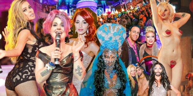 Stars feierten wilde Party-Nacht