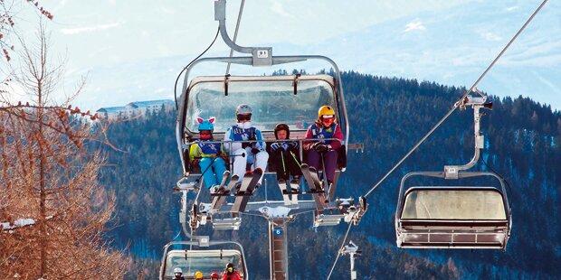 Skifahrer stundenlang auf Lift gefangen
