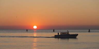 Sonnenuntergang über der Adria vor Lignano Sabbiadoro