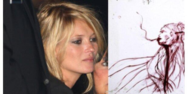 Lippenstift-Porträt von Kate Moss unterm Hammer