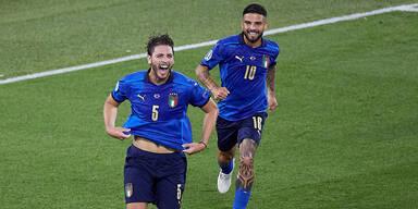 Italienische Nationalspieler Manuel Locatelli und orenzo Insigne