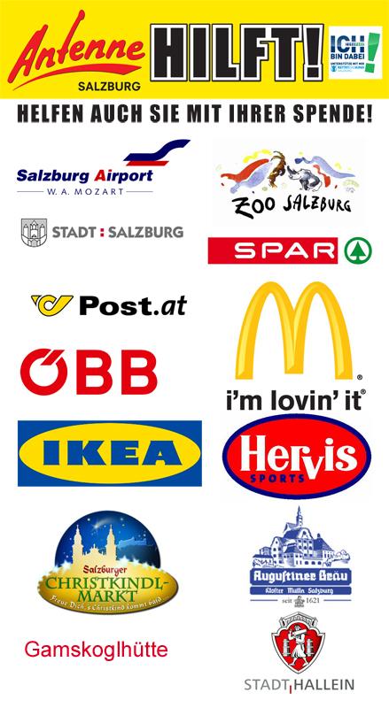 Antenne Salzburg Hilft Logos