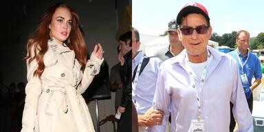 Lindsay Lohan und Charlie Sheen
