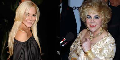 Lindsay Lohan und Liz Taylor