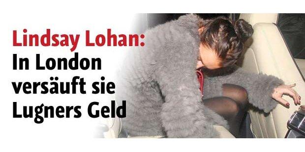 Lohan verprasst Lugners Geld in London