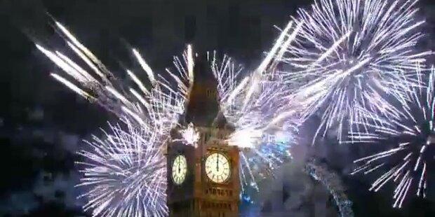 London Eye: Fulminante Feuerwerksshow