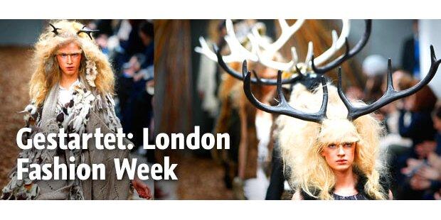 Top-Auftakt zur London Fashion Week
