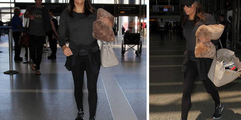 Eva Longorias lässiger Flughafenstyle