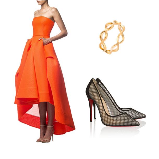 Lily Collins - Engel in Orange