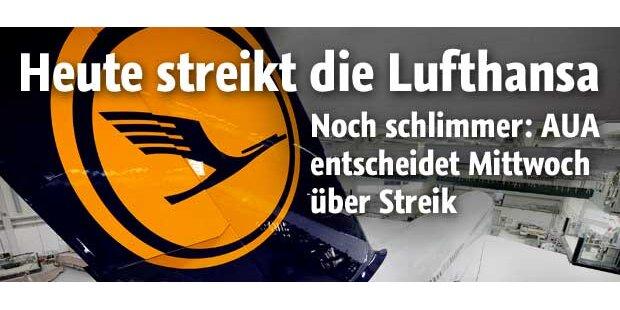 Heute streiken die Lufthansa-Piloten