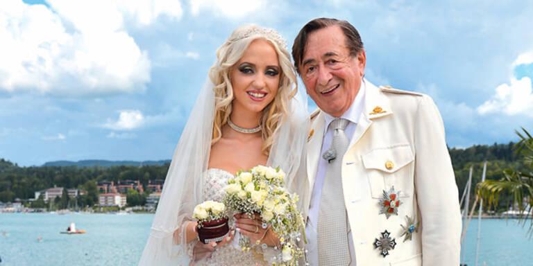 Attacke auf Lugners Hochzeitstorte
