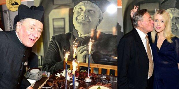 Lugner knutschte zum Geburtstag Geldof