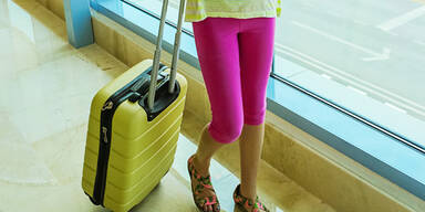 Mädchen Leggins Flughafen