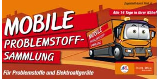 Werben für mobile Sammelaktion