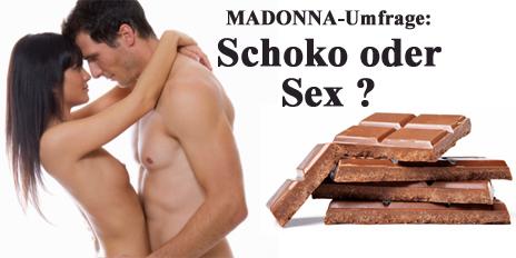 MADONNA Umfrage Schoko naschen Sex Lustlosigkeit