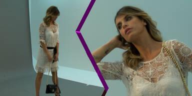 MADONNA Shooting mit Elisabetta Canalis