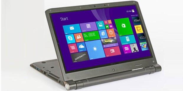 Touch-Notebook mit Windows 8.1 bei Hofer