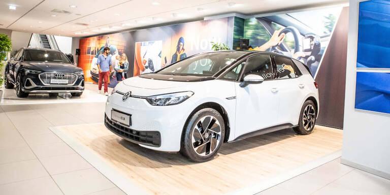 VW-Konzern hat jetzt E-Auto-Pop-up-Store in Wien