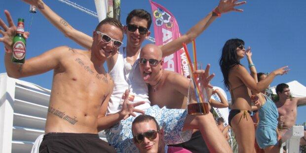 Molti, Spotzl und Co. feiern Beach Party Oida!