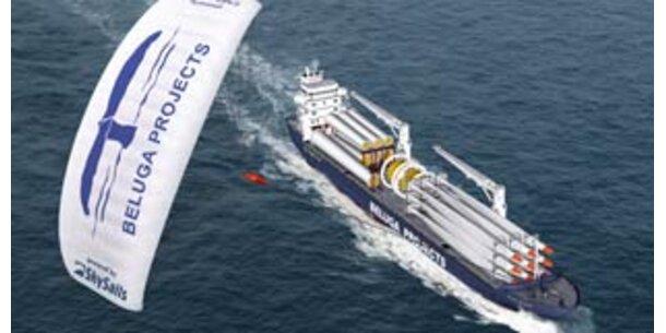 Erster Frachter mit Segelantrieb in Betrieb