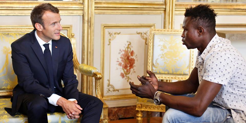Macron Held Paris Mamoudou Gassama