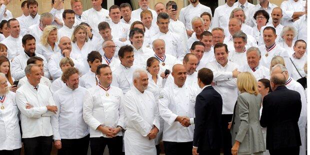 Emmanuel Macron und die 180 Sterneköche
