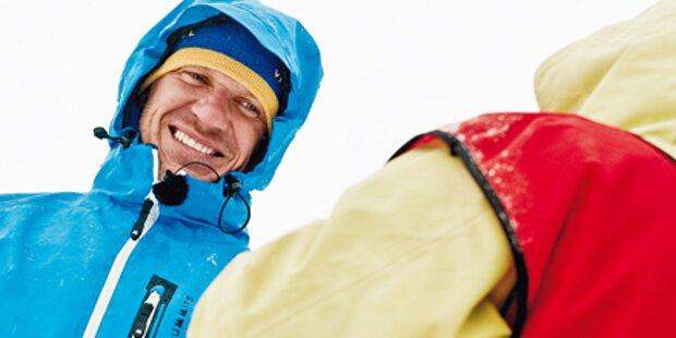 Herminator trainiert im Eiskanal