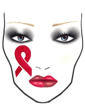 Makeup Look von MAC für den Welt-Aids-Tag