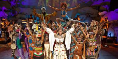 """""""Mama Africa"""" beziehungsweise der """"Circus der Sinne"""" gastiert am 4. März in der Wiener Stadthalle."""