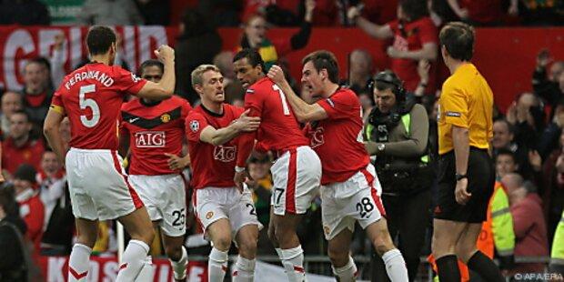 Manchester United kann im Titelkampf vorlegen