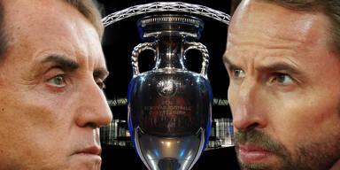 Italien-Coach Roberto Mancini und England-Trainer Garteh Southgate