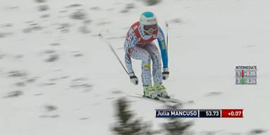 Julia Mancuso als drittschnellste