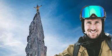 Gipfelstürmer: Marcel Hirscher in luftiger Höhe