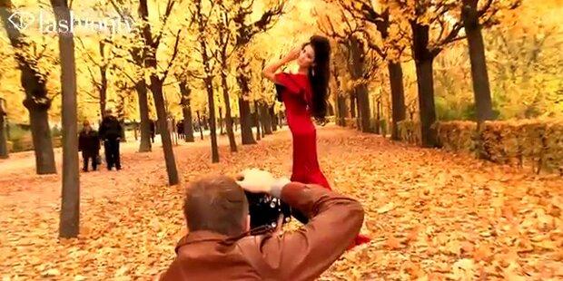 Maria Mogsolova shootet in Schönbrunn