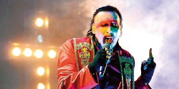 Manson schockt mit Reichsparteitag-Show