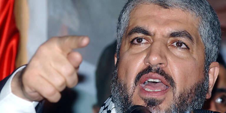 Khalid Mashaal ist der Exil-Chef der Hamas. Derzeit lebt er in Damaskus, Syrien. (c) AP