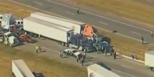 Texas: Massen-Crash mit 140 Autos - 2 Tote