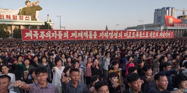 Nordkorea veranstaltete Massenkundgebung gegen USA
