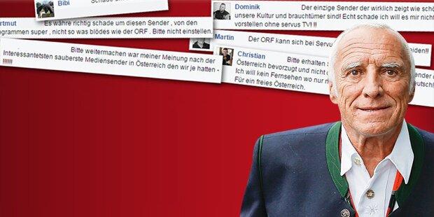 Facebook-User kämpfen gegen Servus-Aus