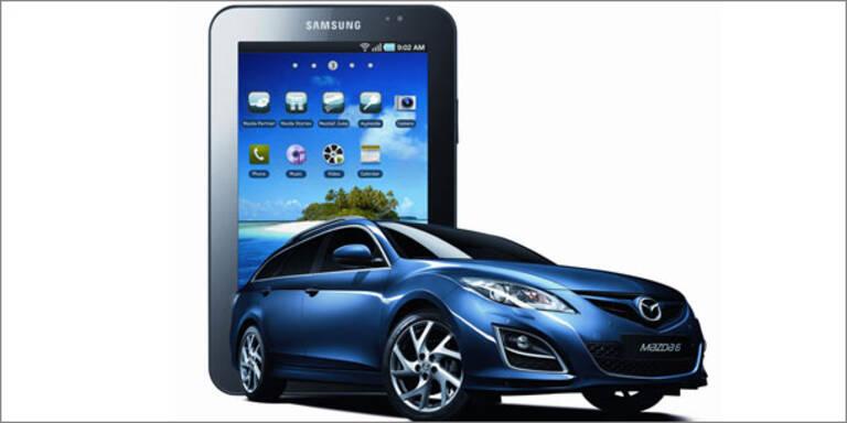 Mazda schenkt Kunden ein Galaxy Tab