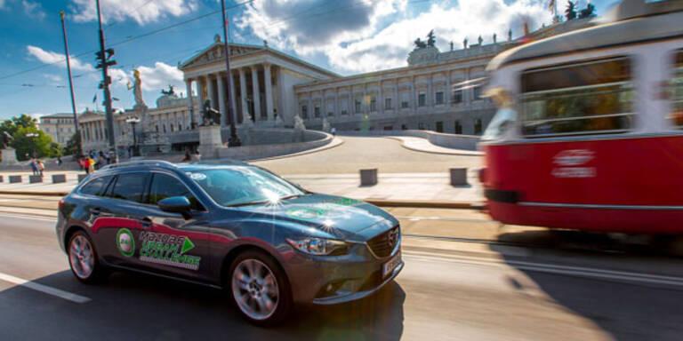 Mazda6 trumpfte mit Mini-Verbrauch auf